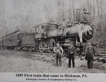 Hickman Train and detailed text