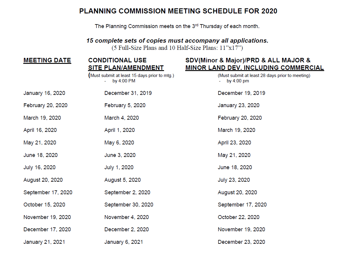 planning commissione